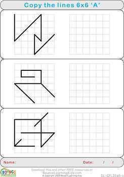 Copy lines (12 Hand-eye coordination sheets)