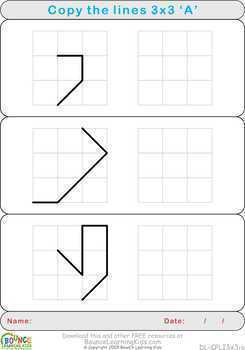 Copy lines (12 distance learning worksheets for Hand-eye coordination)