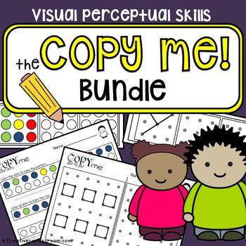 Copy practice {Copy Me Bundle} - Visual perceptual skills