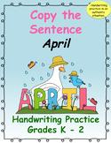 Copy the Sentence April $1 Deal