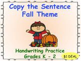 Copy the Sentence Fall Themed $1 DEAL
