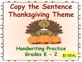 Copy the Sentence Thanksgiving $1 Deal