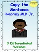 Copy the Sentence Honoring MLK  $1 Deal