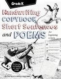 Copy the Sentence: Manuscript Alphabet Handwriting Penmans