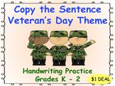 Copy the Sentence Veteran's Day  $1 Deal