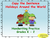 Copy the Sentence Winter Holidays Themed Bundle