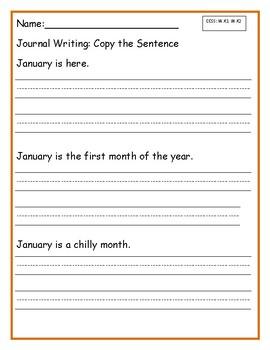 Copy the Sentence _January Version FREE