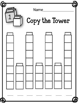 Copy the Tower. Patterns. Linking Cubes. Interlocking Counting Blocks.