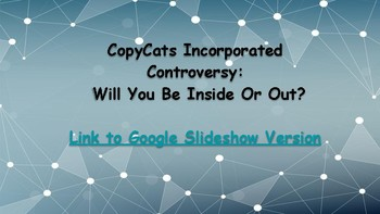CopyCats:  A Mini Research/ Decision Making Project