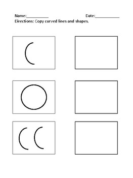 Copying Straight and Curved Lines Activity Sheets