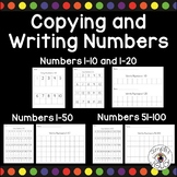 Copying and Writing Numbers 1-100