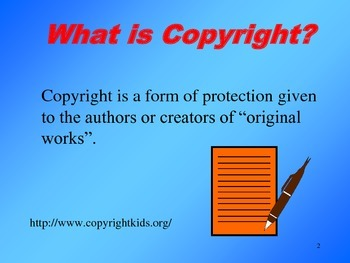 Copyright Basics Slide Show for Elementary