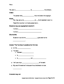 Copyright Basics: Unit for Middle School