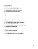 Copyright Basics worksheet
