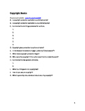 Copyright Basics worksheet