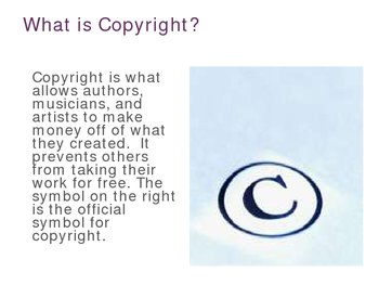 Copyright For Elementary Students