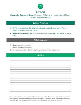 Copyright: Getting It Right (Avoiding Common Pitfalls)