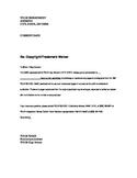 Copyright Release Form Letter