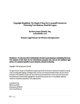 Copyright Simplified: The simple 5-step do-it-yourself formula