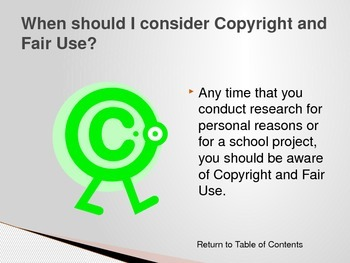 Copyright and Fair Use For Students