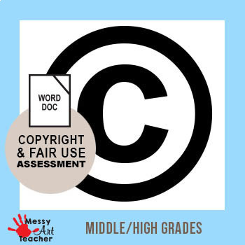 Copyright and Fair Use Worksheet and Assessment for High School Students