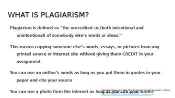 Copyright and Plagiarism Presentation