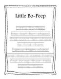 Copywork Series: Nursery Rhymes in Print