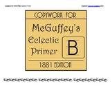 Copywork for McGuffey's Primer