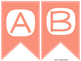 Coral Alphabet & Number Banners