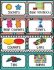 Coral & Aqua Classroom Supply Labels