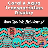 Coral & Aqua Transportation Cards