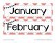Coral Chevron and Navy Bunting Calendar Kit
