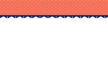 Coral Chevron/Dot PowerPoint Template