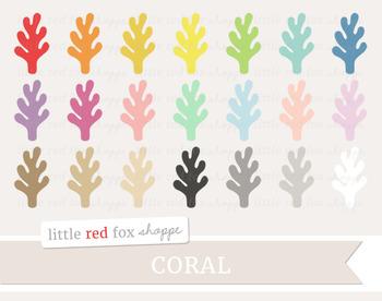 Coral Clipart; Ocean, Beach, Sea, Reef