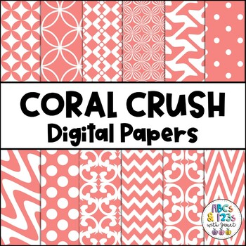 Coral Crush Digital Paper Pack