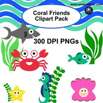 Coral Friends Clipart