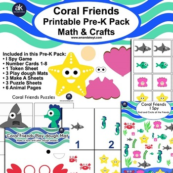 Coral Friends Math and Crafts Printable Pack
