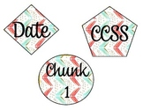 Coral, Mint, Gray Board Labels