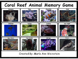 Coral Reef Animal Memory Game