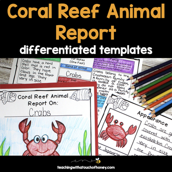 Informational Writing Templates | Coral Reef Activities | Ocean Animal Report