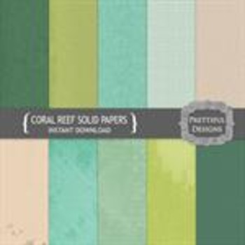 Coral Reef Solid Paper Pack