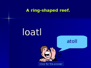 Coral Reef Word Game