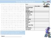 Coral Reefs Wordsearch Sheet Nature Wildlife Starter Activity Keywords