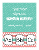 Coral & Teal Alphabet Posters