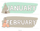 Coral, Teal & Tan Tribal Classroom Calendar Set