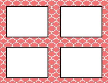 Coral Tile Classroom Labels and Tags