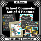 Coral Turquoise Yellow Counseling Office Decor Back to School Counselors Posters