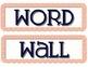 Coral, Yellow & Navy Chevron Word Wall