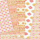 Coral and Gold aztec Digital Paper, Boho seamless patterns backgrounds