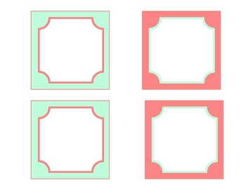 Coral and Mint Labels
